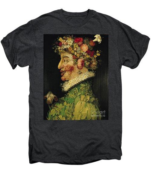 Spring Men's Premium T-Shirt by Giuseppe Arcimboldo
