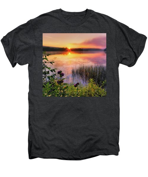 Men's Premium T-Shirt featuring the photograph Summer Sunrise Square by Bill Wakeley