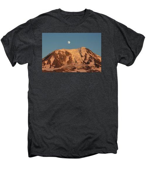 Sunset And Moonrise At Mt Adams Men's Premium T-Shirt