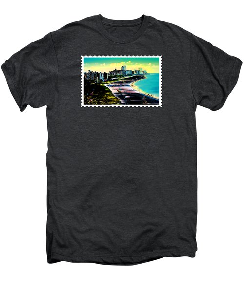 Surreal Colors Of Miami Beach Florida Men's Premium T-Shirt
