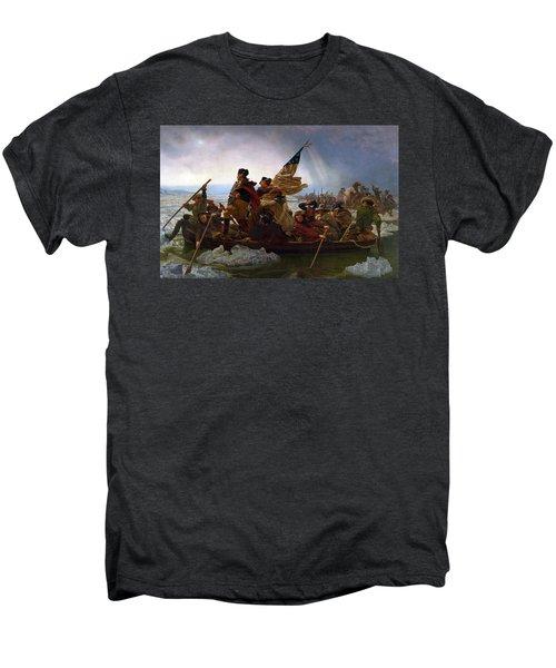 Washington Crossing The Delaware Men's Premium T-Shirt by Emanuel Leutze