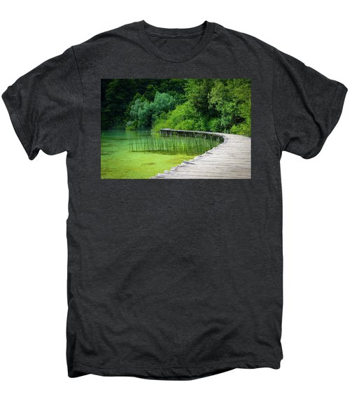 Wooden Path In The Forest Men's Premium T-Shirt