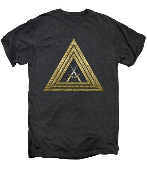15th Degree Mason - Knight Of The East Masonic Jewel  Men's Premium T-Shirt