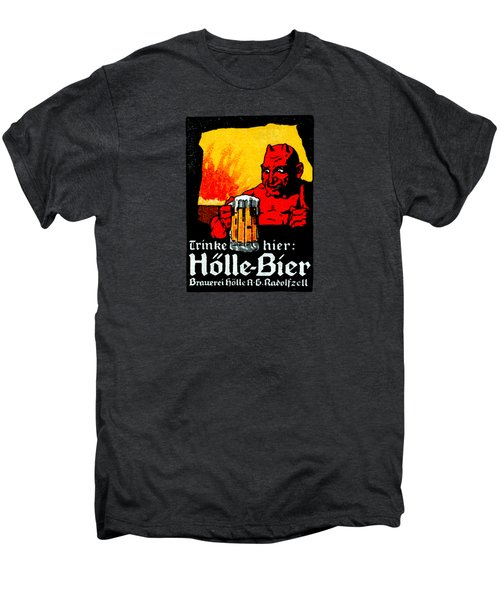 1905 German Beer Poster Men's Premium T-Shirt by Historic Image
