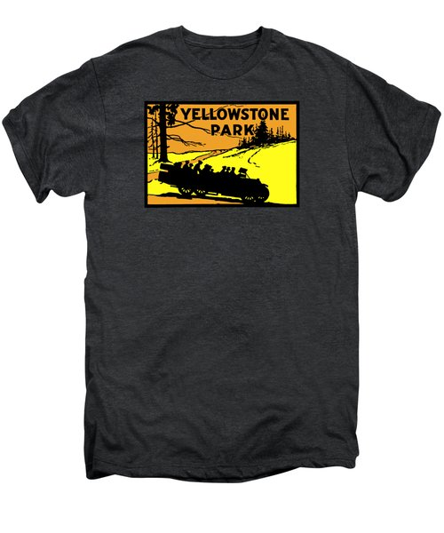1920 Yellowstone Park Men's Premium T-Shirt by Historic Image