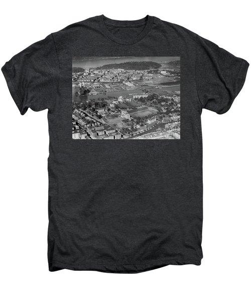 1930's Northern Manhattan Aerial  Men's Premium T-Shirt by Cole Thompson