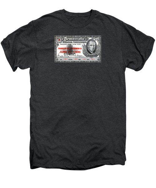 1936 Democrat National Convention Ticket Men's Premium T-Shirt
