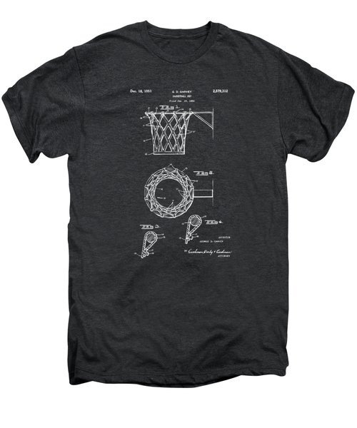 1951 Basketball Net Patent Artwork - Gray Men's Premium T-Shirt by Nikki Marie Smith