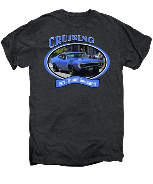 1971 Plymouth Roadrunner Hedman Men's Premium T-Shirt by Mobile Event Photo Car Show Photography