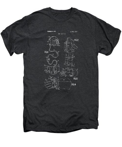 1973 Space Suit Elements Patent Artwork - Gray Men's Premium T-Shirt