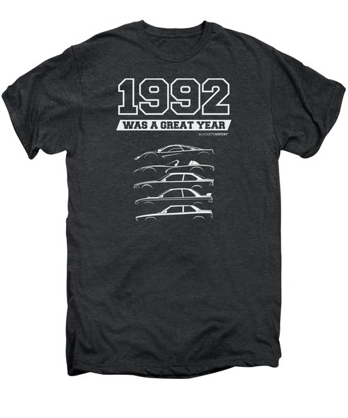 1992 Was A Great Year Silhouettehistory Men's Premium T-Shirt