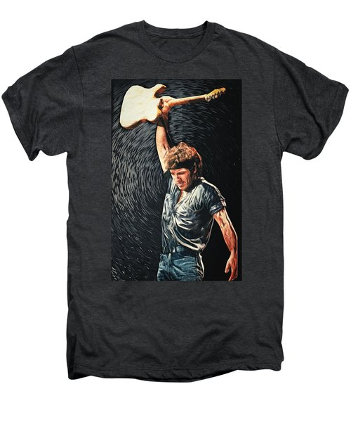 Bruce Springsteen Men's Premium T-Shirt by Taylan Apukovska