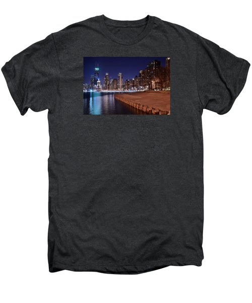 Chicago From The North Men's Premium T-Shirt by Frozen in Time Fine Art Photography