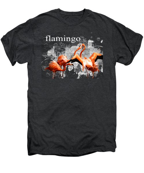 Flamingo Men's Premium T-Shirt by Methune Hively