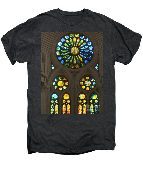 Graphic Art From Photo Library Of Photographic Collection Of Christian Churches Temples Of Place Of  Men's Premium T-Shirt by Navin Joshi