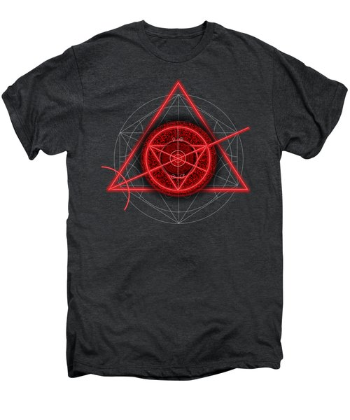 Occult Magick Symbol On Red By Pierre Blanchard Men's Premium T-Shirt by Pierre Blanchard