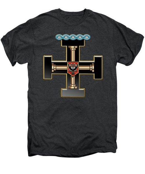 27th Degree Mason - Knight Of The Sun Or Prince Adept Masonic Jewel  Men's Premium T-Shirt by Serge Averbukh