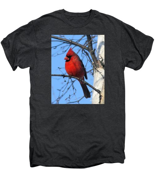 Men's Premium T-Shirt featuring the photograph Northern Cardinal by Ricky L Jones
