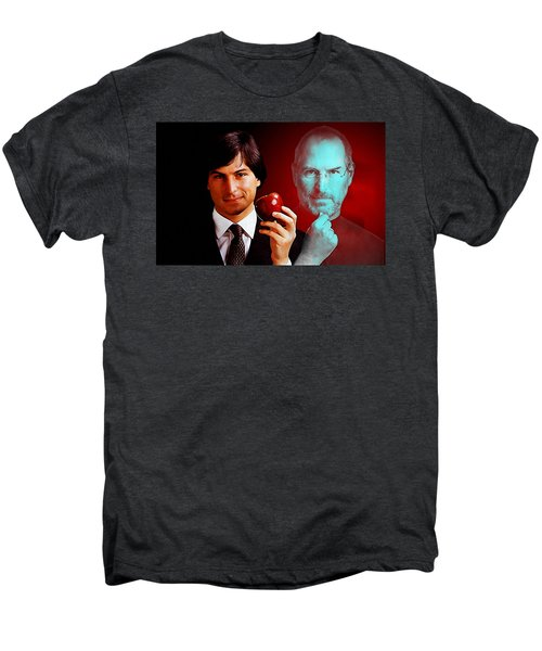 Men's Premium T-Shirt featuring the mixed media Steve Jobs by Marvin Blaine