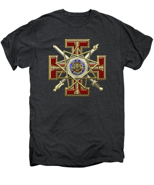 33rd Degree Mason - Inspector General Masonic Jewel  Men's Premium T-Shirt