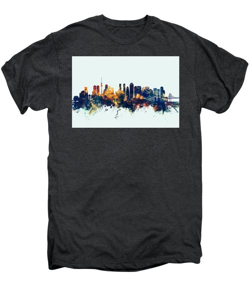 Tokyo Japan Skyline Men's Premium T-Shirt by Michael Tompsett