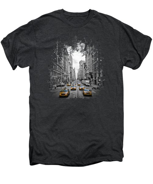 5th Avenue Nyc Traffic II Men's Premium T-Shirt by Melanie Viola