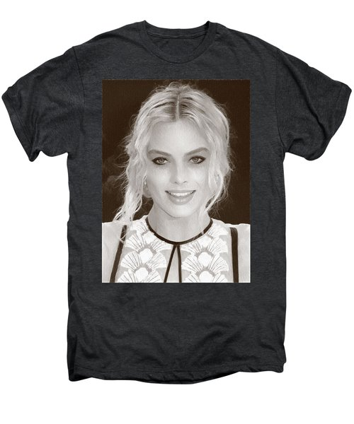 Actress Margot Robbie Men's Premium T-Shirt