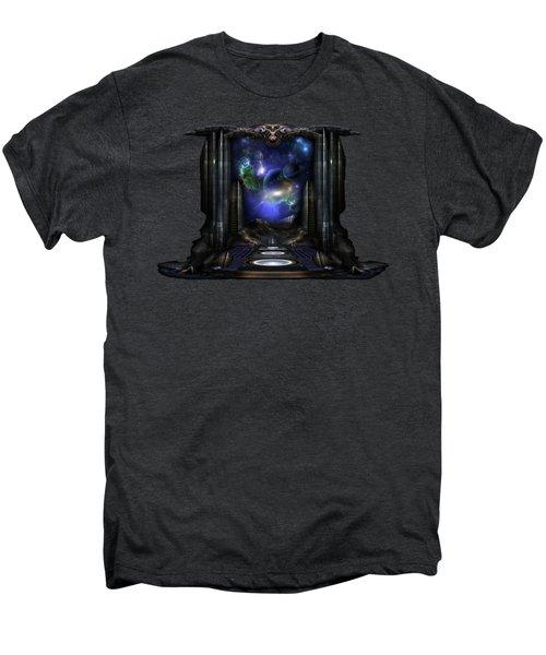 89-123-a9p2 Arsairian 7 Reporting Fractal Composition Men's Premium T-Shirt