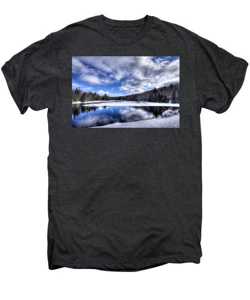Men's Premium T-Shirt featuring the photograph A Moose River Snowscape by David Patterson