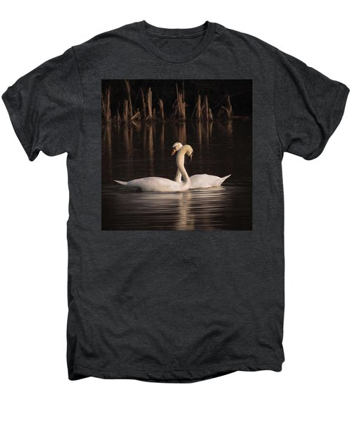 A Painting Of A Pair Of Mute Swans Men's Premium T-Shirt