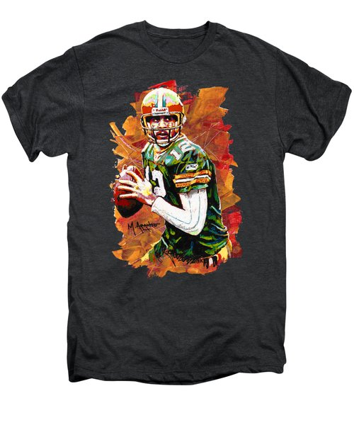 Aaron Rodgers Men's Premium T-Shirt by Maria Arango
