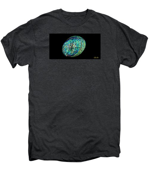 Men's Premium T-Shirt featuring the photograph Abalone On Black by Rikk Flohr
