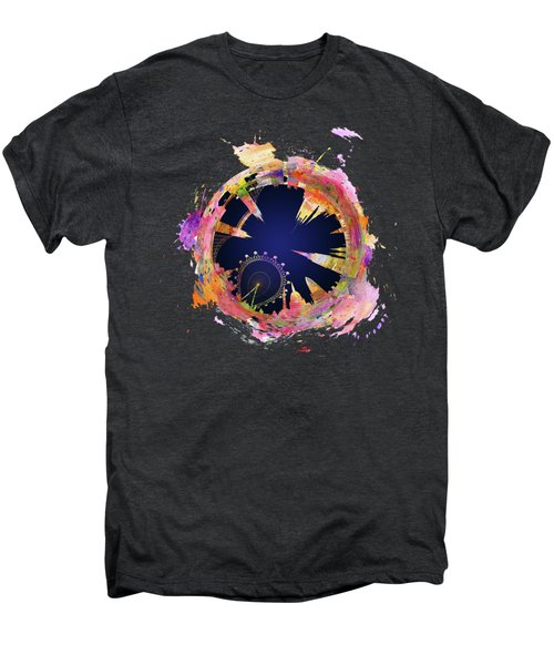 Abstract London Skyline At Night Men's Premium T-Shirt