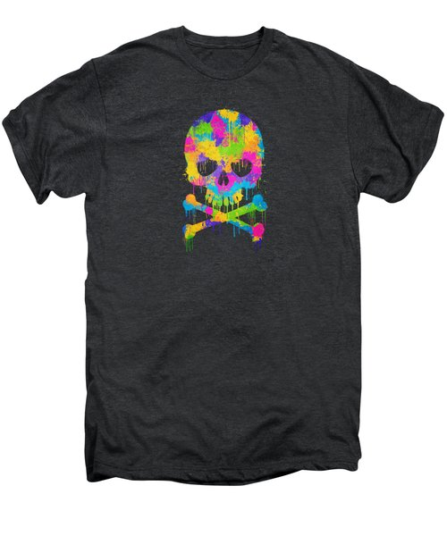 Abstract Trendy Graffiti Watercolor Skull  Men's Premium T-Shirt