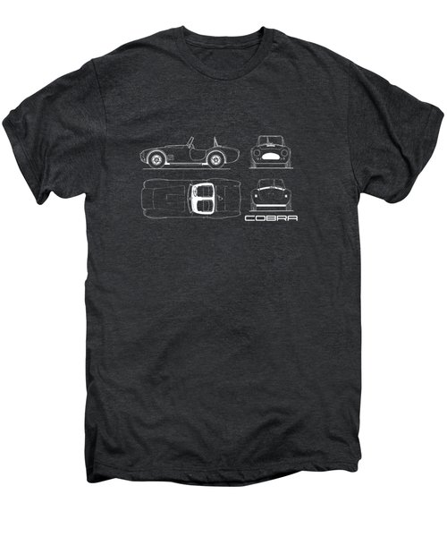 Ac Cobra Blueprint Men's Premium T-Shirt by Mark Rogan