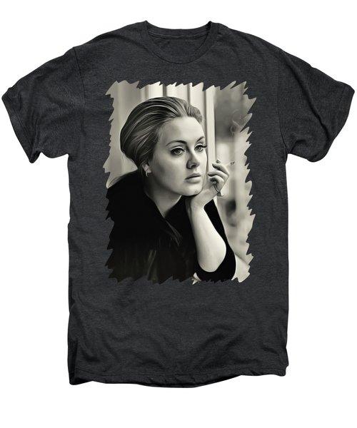 Adele Men's Premium T-Shirt by Twinkle Mehta