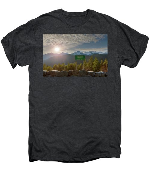 Afternoon Sun Over Tantalus Range From Lookout Men's Premium T-Shirt