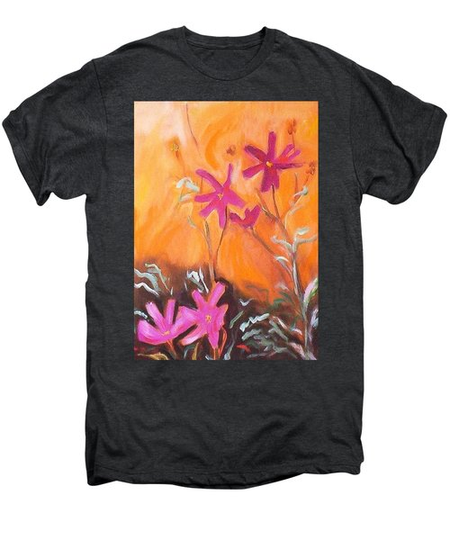 Men's Premium T-Shirt featuring the painting Alba Daisies by Winsome Gunning