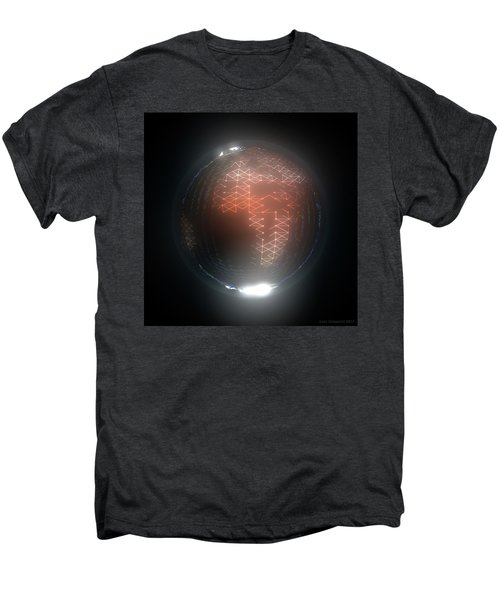 Albedo - Africa And Europe By Night Men's Premium T-Shirt