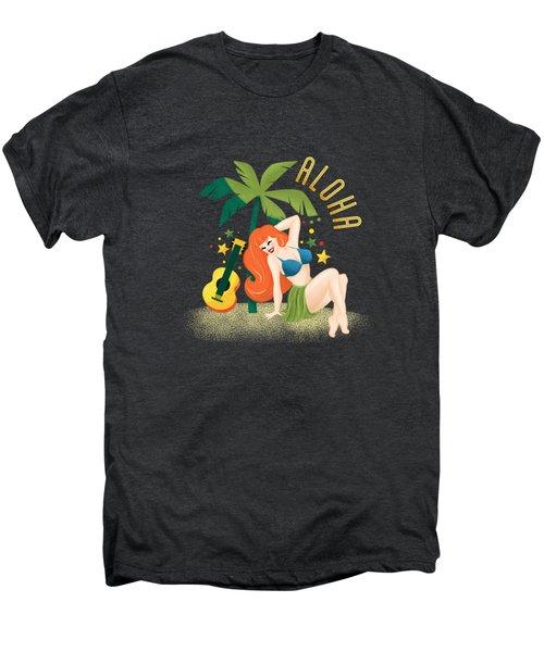 Aloha From Sunny Hawaii Wish You Were Here Men's Premium T-Shirt