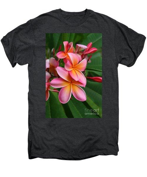 Aloha Lei Pua Melia Keanae Men's Premium T-Shirt by Sharon Mau