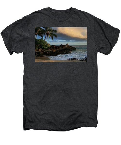 Aloha Naau Sunset Paako Beach Honuaula Makena Maui Hawaii Men's Premium T-Shirt