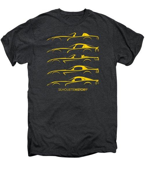 American Snakes Silhouettehistory Men's Premium T-Shirt by Gabor Vida