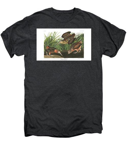 American Woodcock Men's Premium T-Shirt by MotionAge Designs