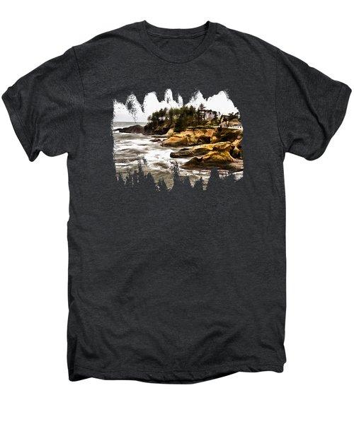 Arch Rock Depoe Bay Men's Premium T-Shirt by Thom Zehrfeld