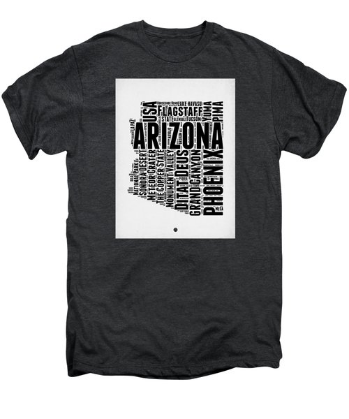 Arizona Word Cloud Map 2 Men's Premium T-Shirt by Naxart Studio