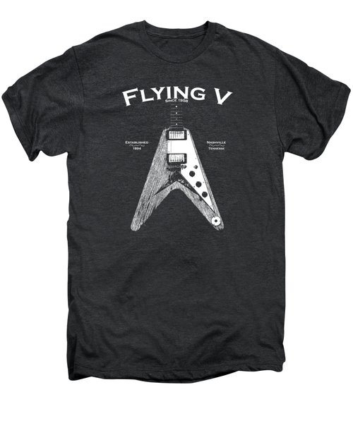 Gibson Flying V Men's Premium T-Shirt by Mark Rogan