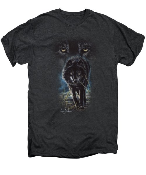 Black Wolf Hunting Men's Premium T-Shirt by Lucie Bilodeau