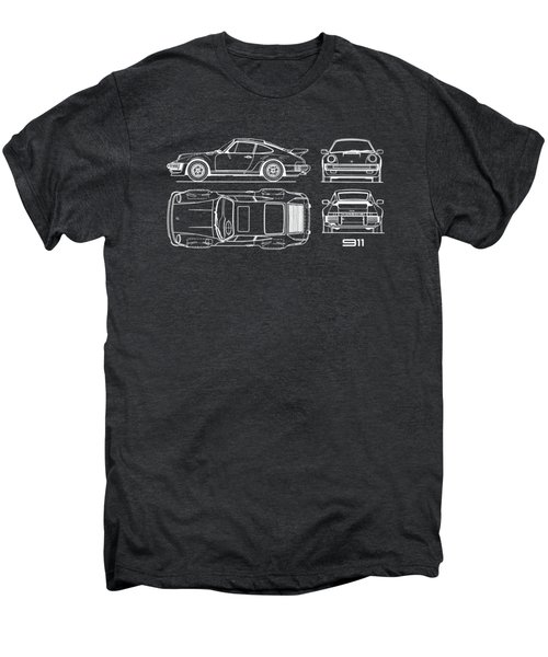 The 911 Turbo Blueprint Men's Premium T-Shirt