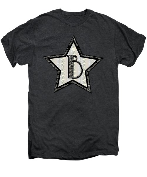 Star Of The Show Art Deco Style Letter B Men's Premium T-Shirt by Cecely Bloom